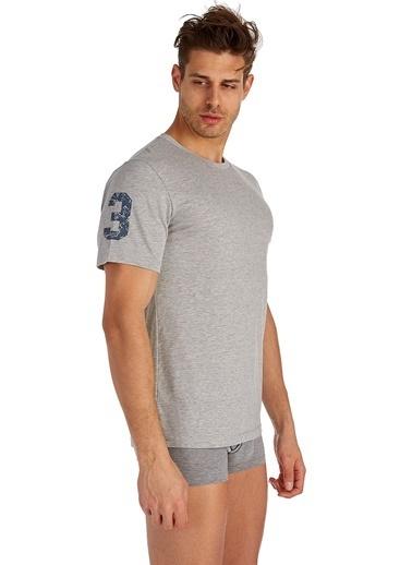 U.S. Polo Assn. Yuvarlak Yaka T-Shirt Gri